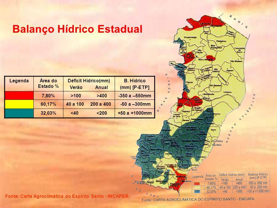 Balanço Hídrico Estadual