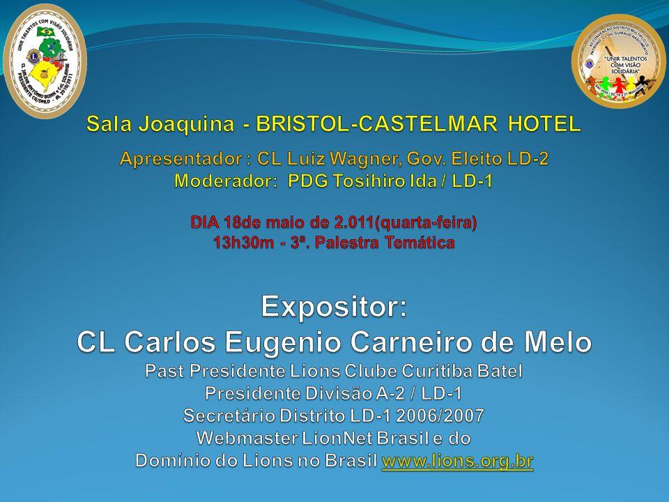 Sala Joaquina - BRISTOL-CASTELMAR HOTEL Apresentador : CL Luiz Wagner, Gov.