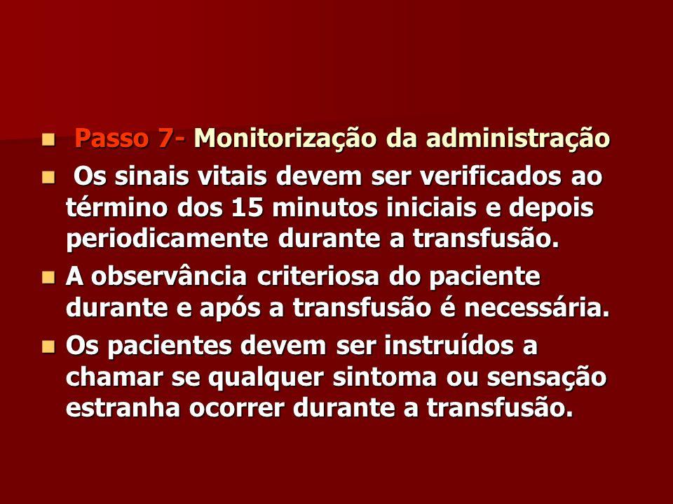 Passo 7- Monitorização da administração