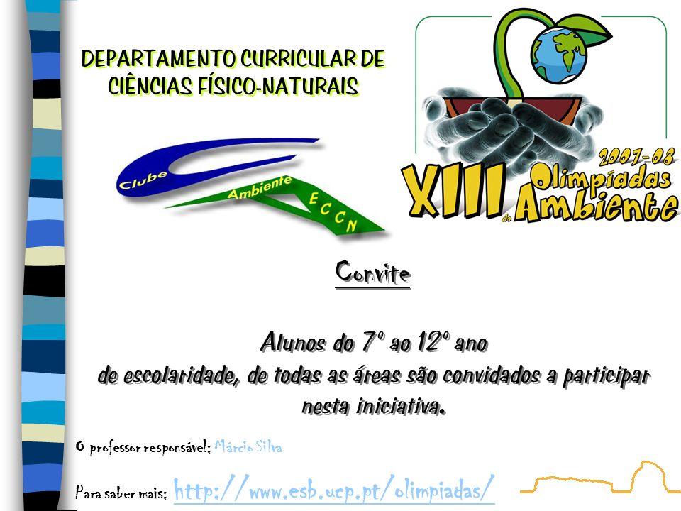 DEPARTAMENTO CURRICULAR DE CIÊNCIAS FÍSICO-NATURAIS