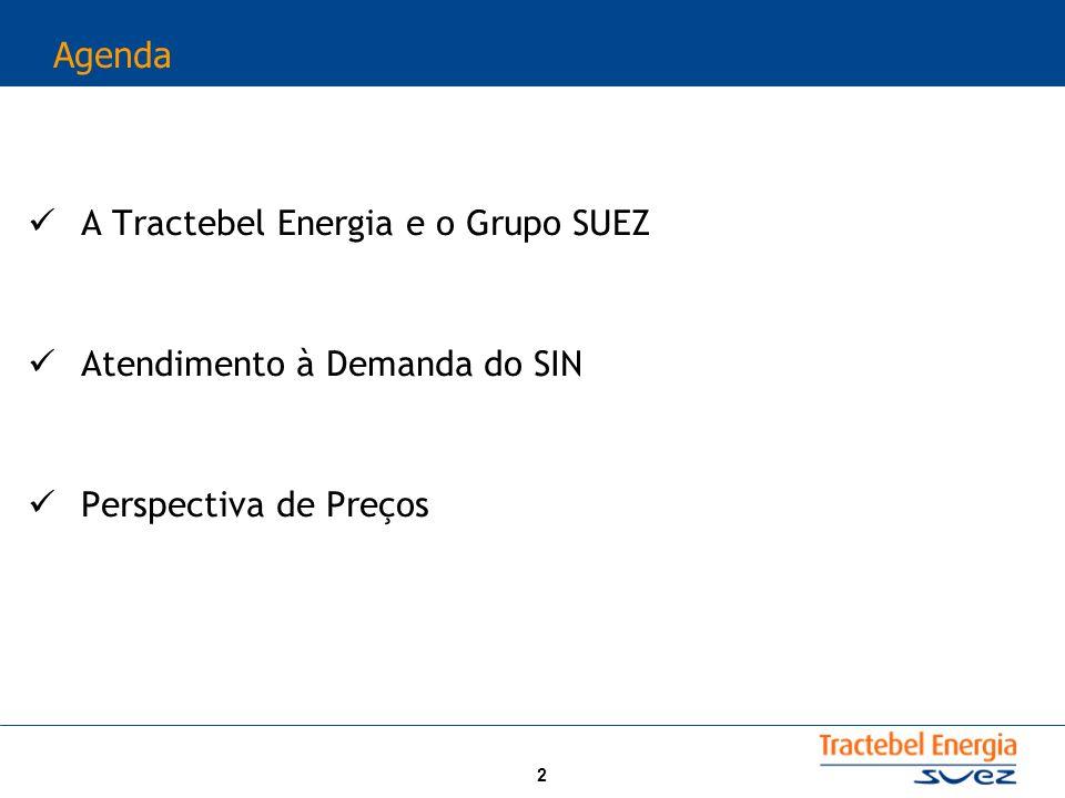A Tractebel Energia e o Grupo SUEZ