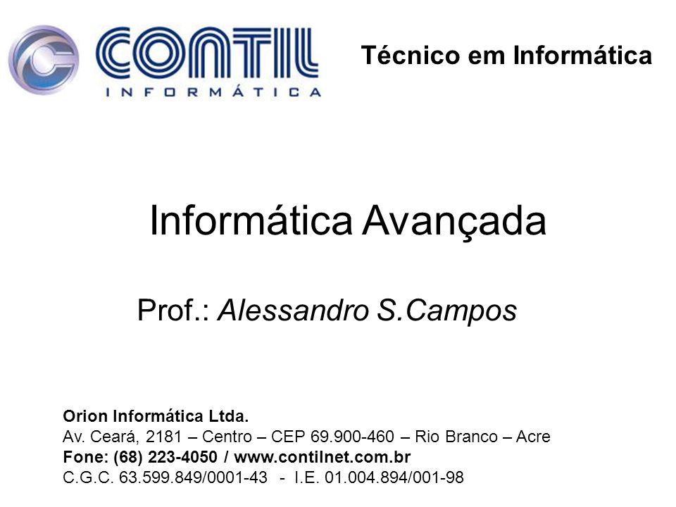 Prof.: Alessandro S.Campos