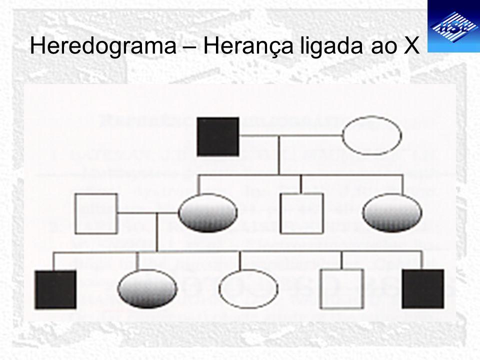 Heredograma – Herança ligada ao X