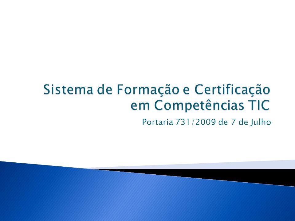Sistema de Formação e Certificação em Competências TIC