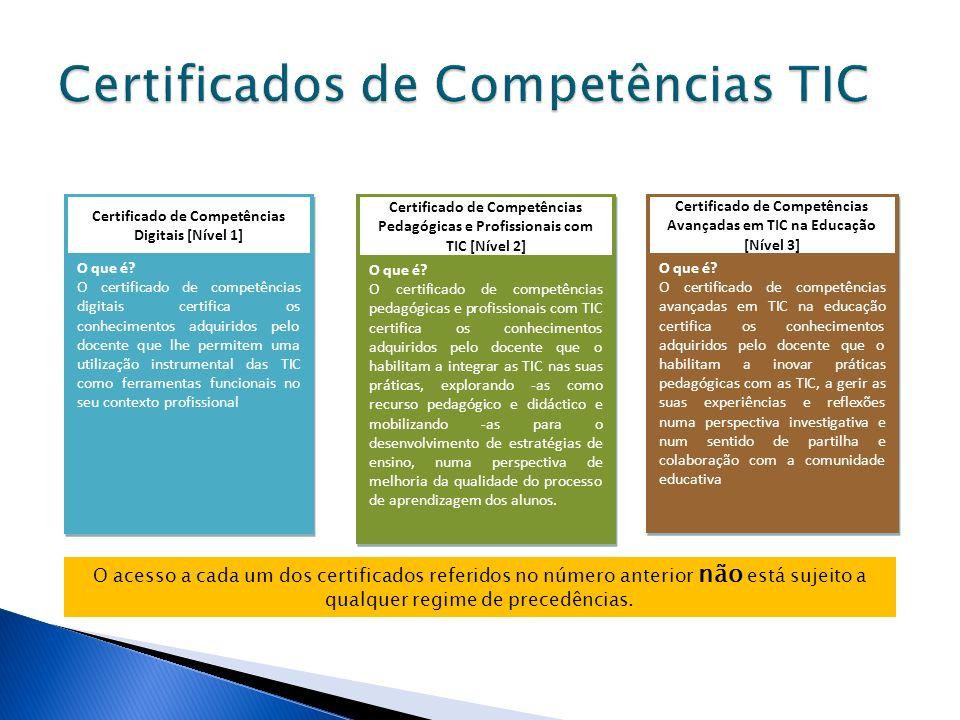 Certificados de Competências TIC