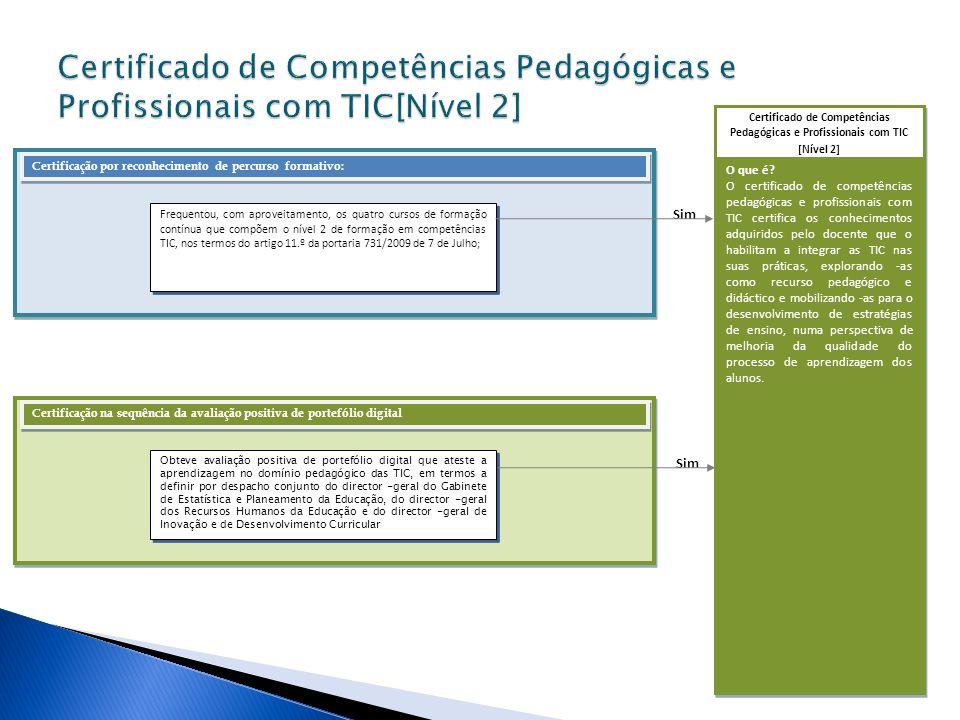 Certificado de Competências Pedagógicas e Profissionais com TIC