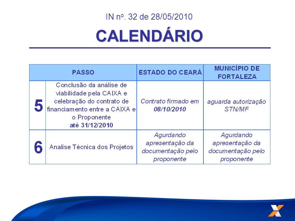 IN no. 32 de 28/05/2010 CALENDÁRIO