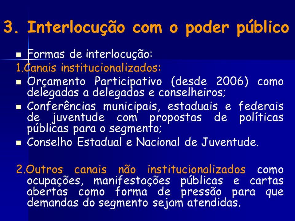 3. Interlocução com o poder público