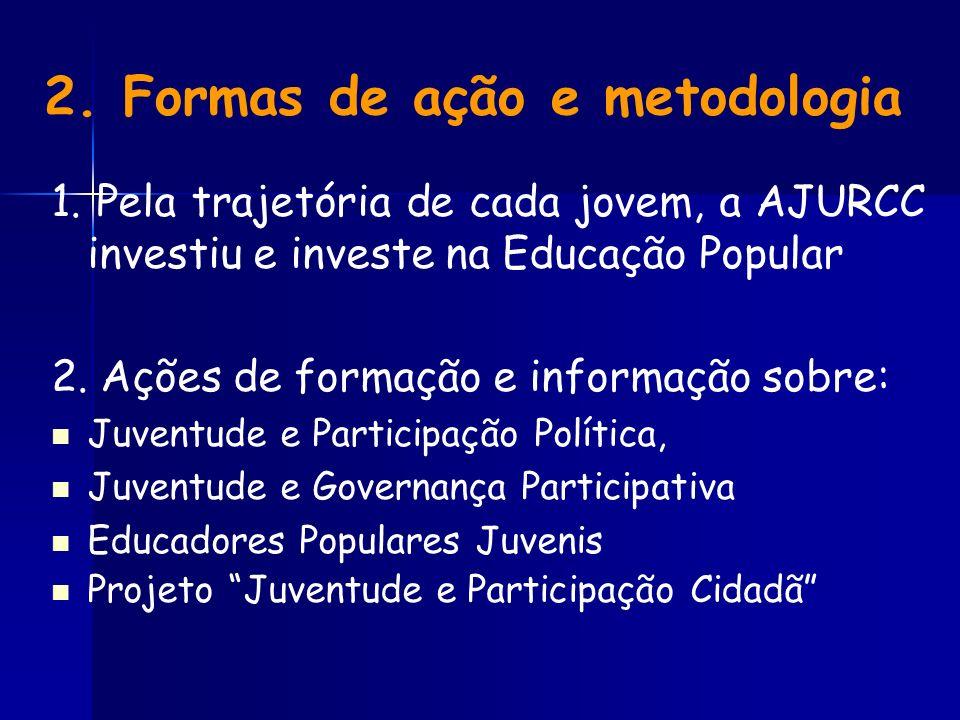 2. Formas de ação e metodologia