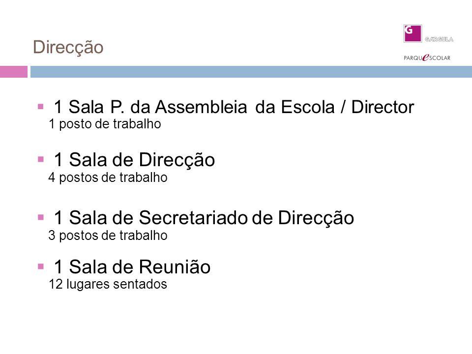 1 Sala de Secretariado de Direcção 1 Sala de Reunião