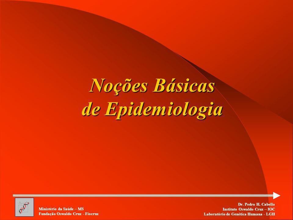 Noções Básicas de Epidemiologia