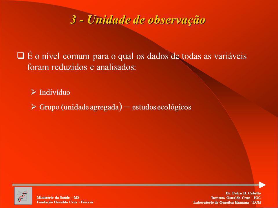 3 - Unidade de observação