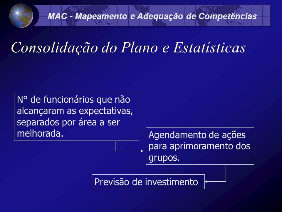 Consolidação do Plano e Estatísticas