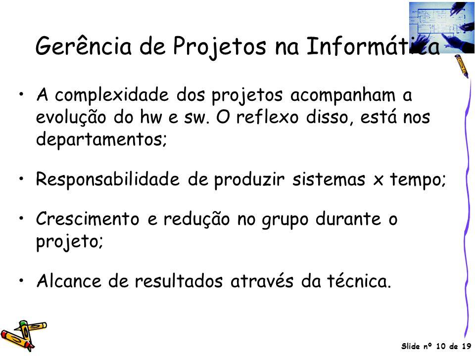 Gerência de Projetos na Informática
