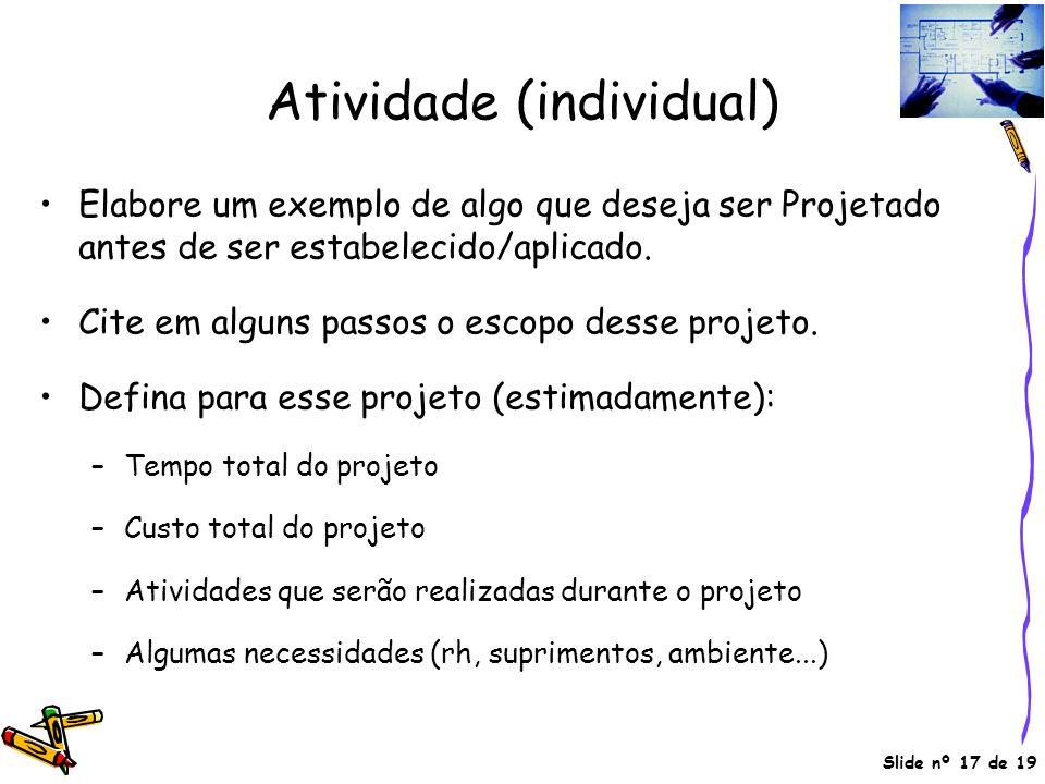 Atividade (individual)