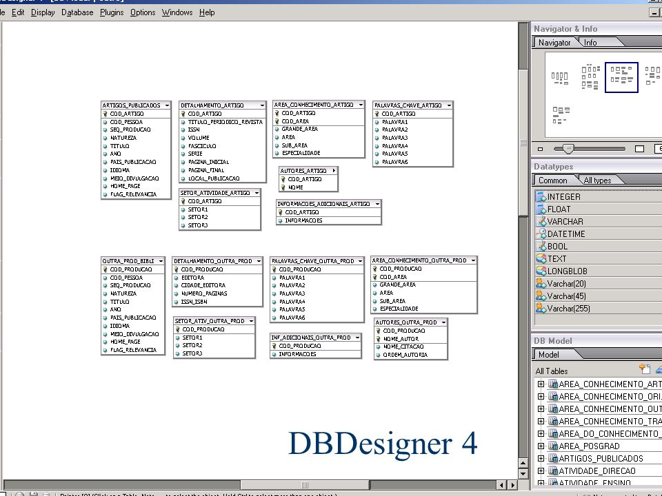 DBDesigner 4 Banco de Dados