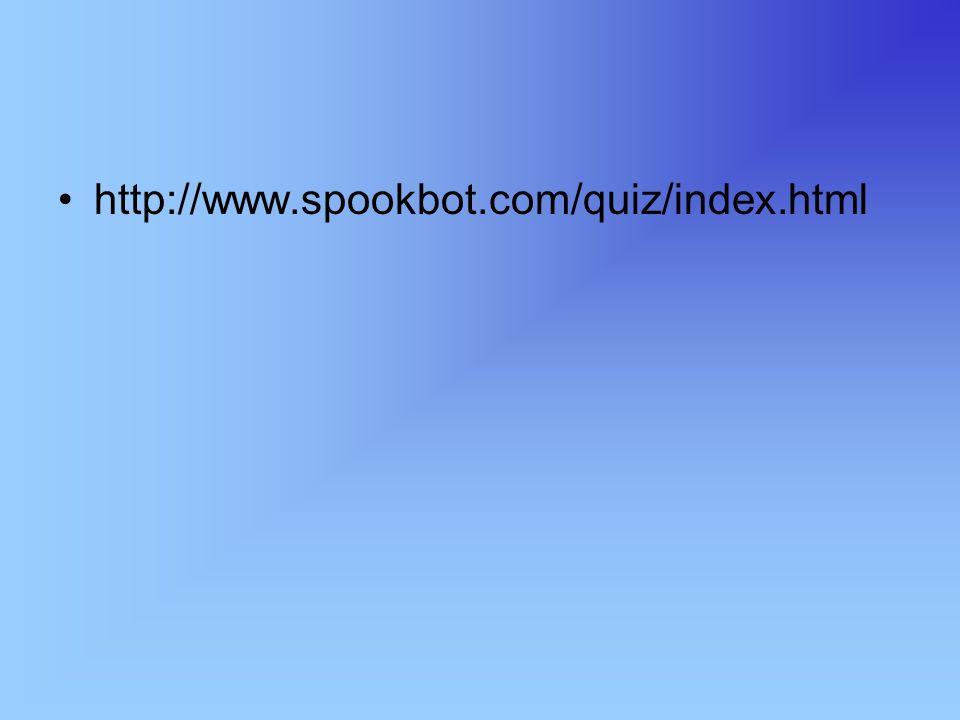 http://www.spookbot.com/quiz/index.html