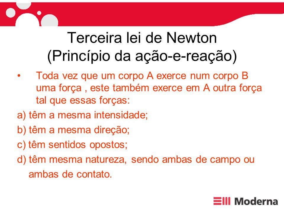 Terceira lei de Newton (Princípio da ação-e-reação)
