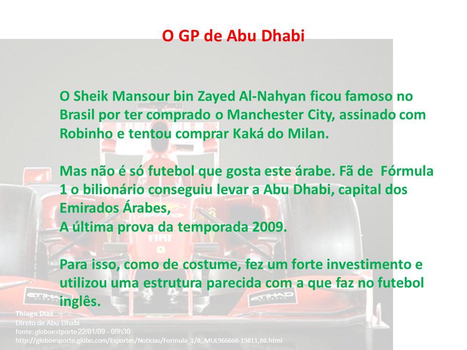 O GP de Abu Dhabi