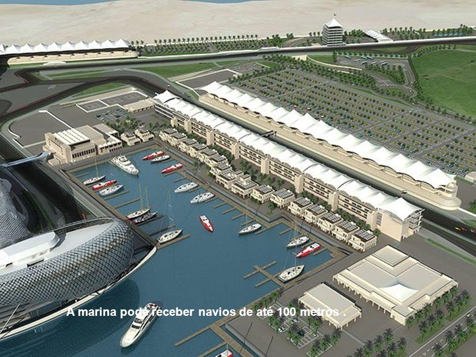 A marina pode receber navios de até 100 metros .