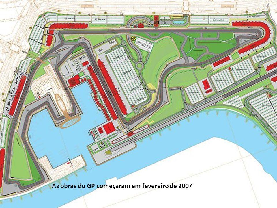 As obras do GP começaram em fevereiro de 2007