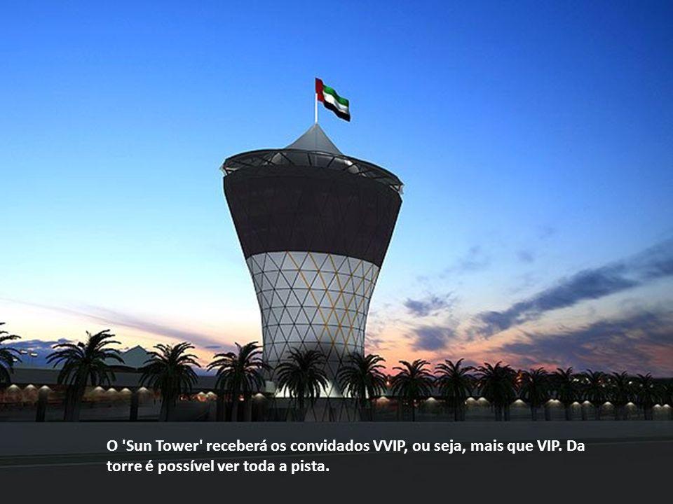 O Sun Tower receberá os convidados VVIP, ou seja, mais que VIP