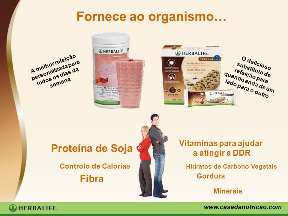 Fornece ao organismo… Proteína de Soja Fibra