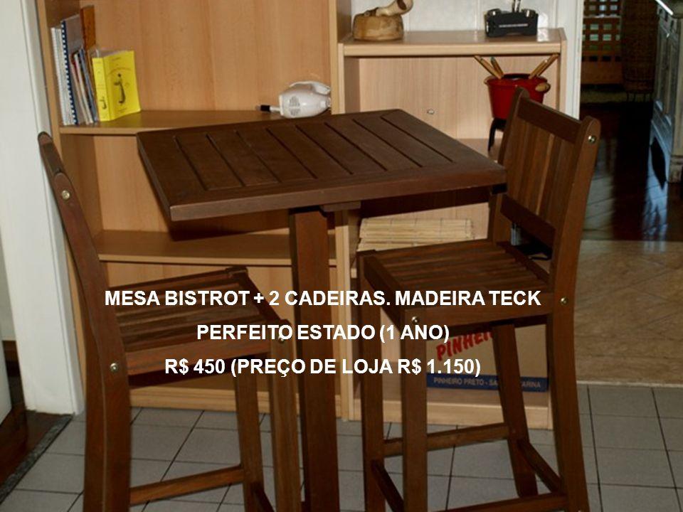 MESA BISTROT + 2 CADEIRAS. MADEIRA TECK