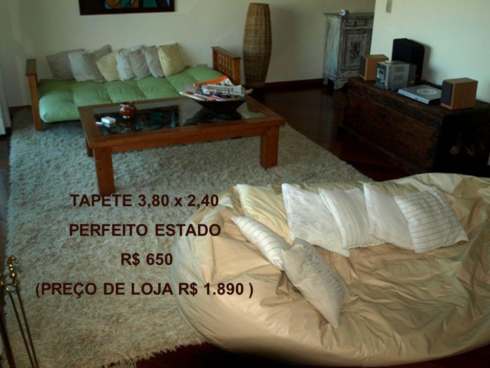 TAPETE 3,80 x 2,40 PERFEITO ESTADO R$ 650 (PREÇO DE LOJA R$ 1.890 )
