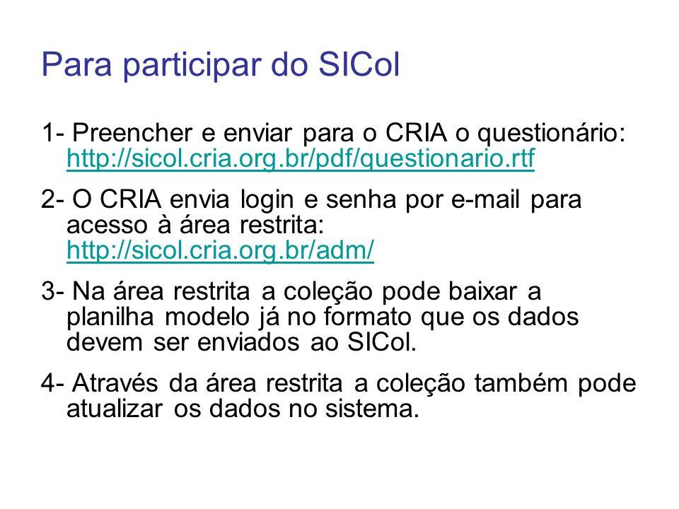Para participar do SICol