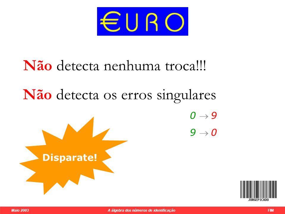 Maio 2003 A álgebra dos números de identificação FIM