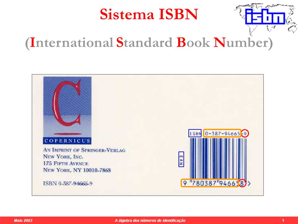 Sistema ISBN (International Standard Book Number)
