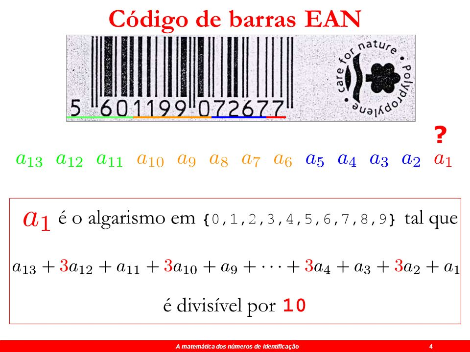 A matemática dos números de identificação 4
