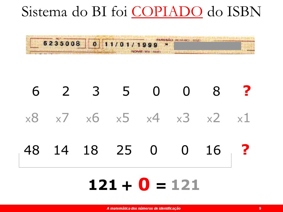Sistema do BI foi COPIADO do ISBN
