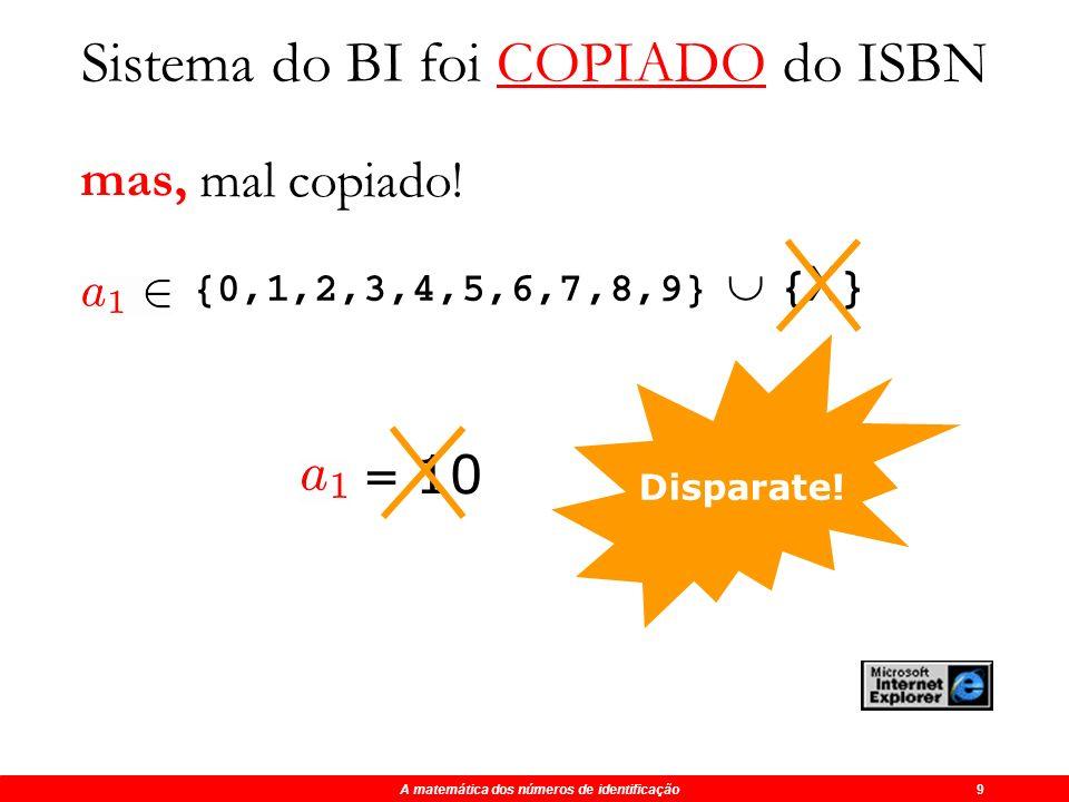 A matemática dos números de identificação 9