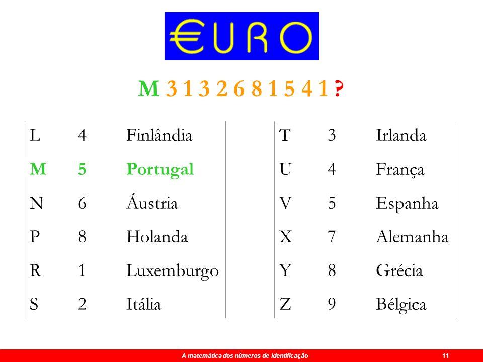 A matemática dos números de identificação 11