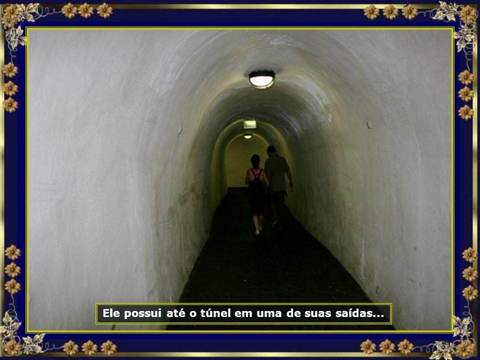 Ele possui até o túnel em uma de suas saídas...