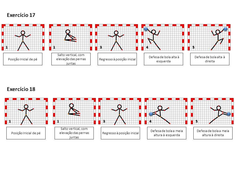 Exercício 17 Exercício 18 1 1 3 4 5 1 1 3 4 5 Posição Inicial de pé