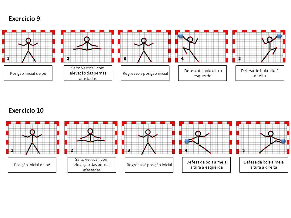 Exercício 9 Exercício 10 1 2 3 4 5 1 2 3 4 5 Posição Inicial de pé