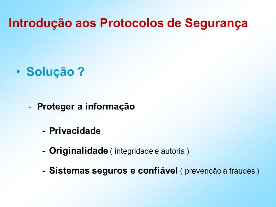 Solução Proteger a informação Privacidade
