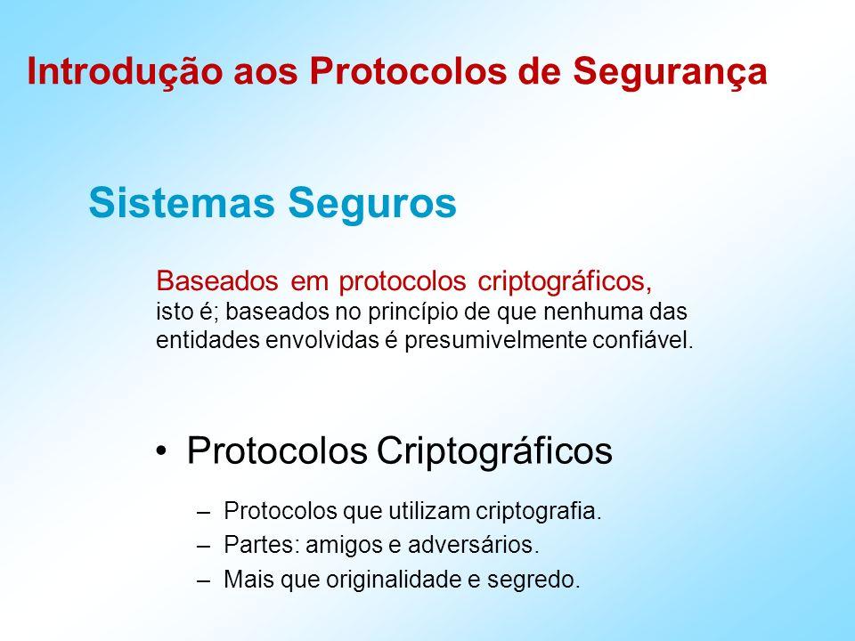 Sistemas Seguros Protocolos Criptográficos