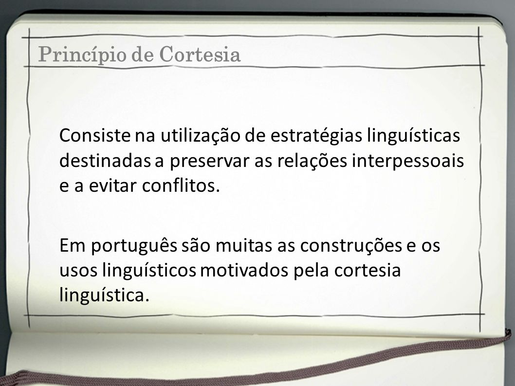Princípio de Cortesia