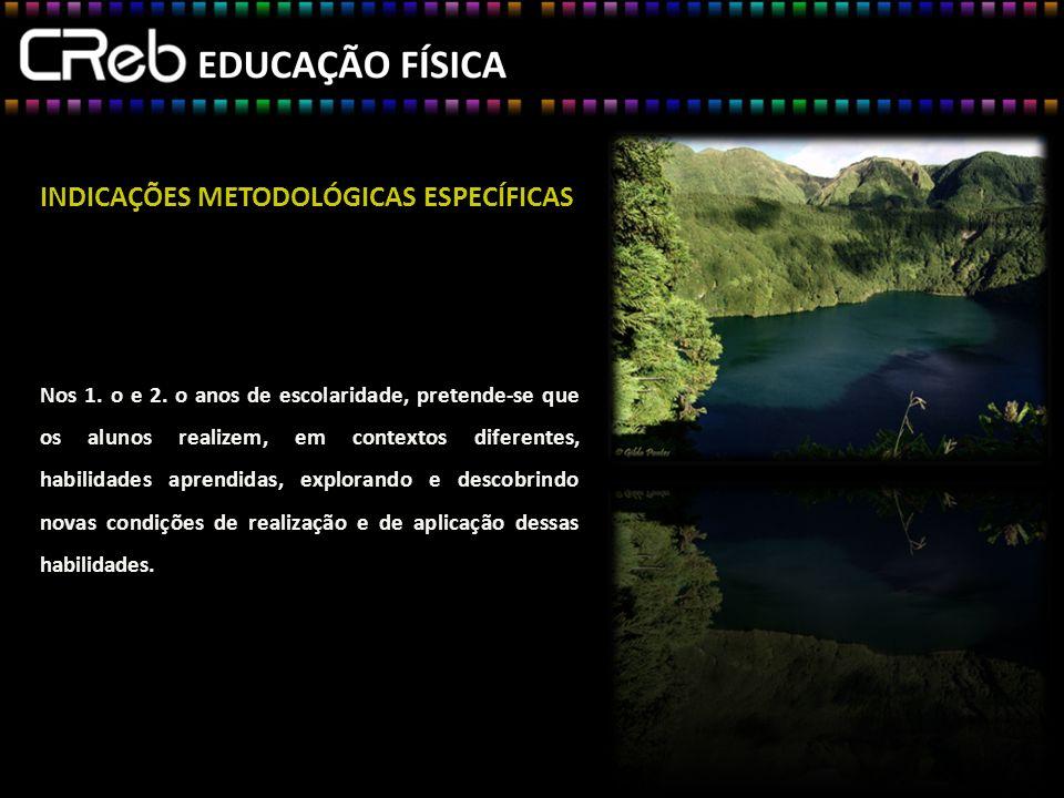 INDICAÇÕES METODOLÓGICAS ESPECÍFICAS