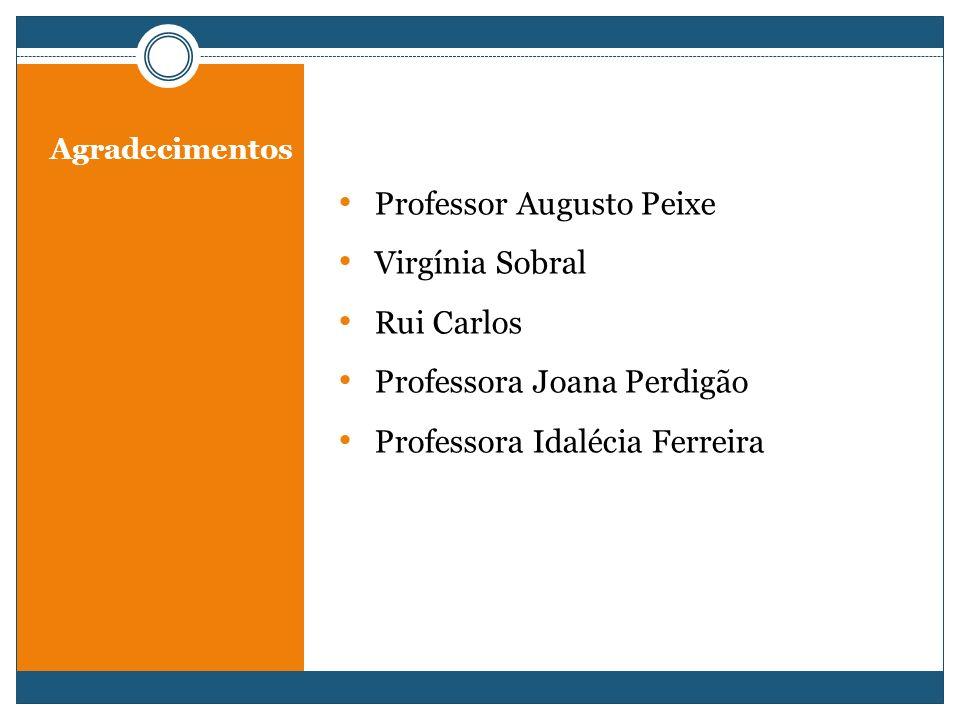 Professor Augusto Peixe Virgínia Sobral Rui Carlos