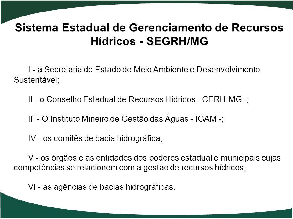 Sistema Estadual de Gerenciamento de Recursos Hídricos - SEGRH/MG
