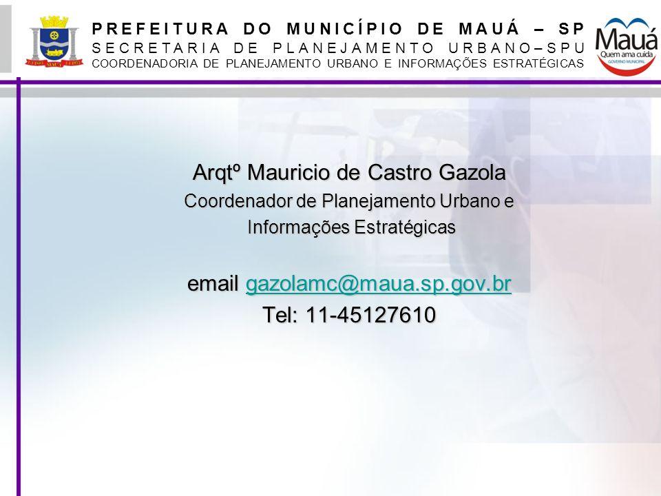 Arqtº Mauricio de Castro Gazola