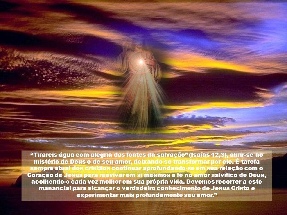 Tirareis água com alegria das fontes da salvação (Isaías 12,3), abrir-se ao mistério de Deus e de seu amor, deixando-se transformar por ele.