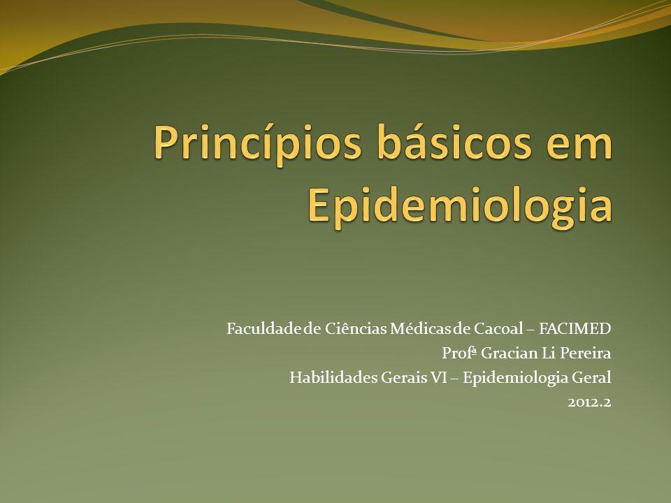 Princípios básicos em Epidemiologia