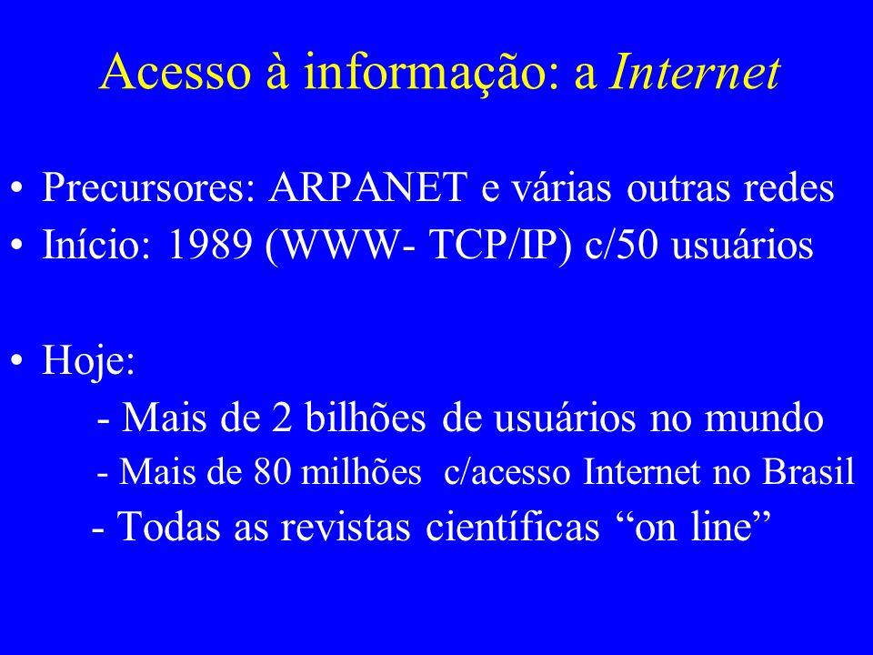 Acesso à informação: a Internet