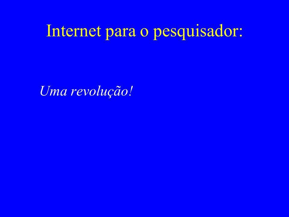 Internet para o pesquisador:
